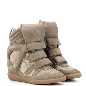 NWT Isabel Marant Suede Wedge Sneakers Size:36